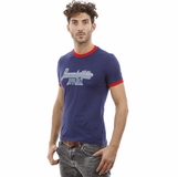 Dolce and Gabbana Navy Blue Red Trim Cotton T-shirt