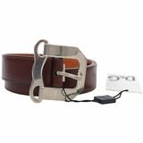 Dolce & Gabbana D Leather Belt - Brown