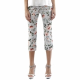 Dolce & Gabbana Floral Capri Pants - Light Blue