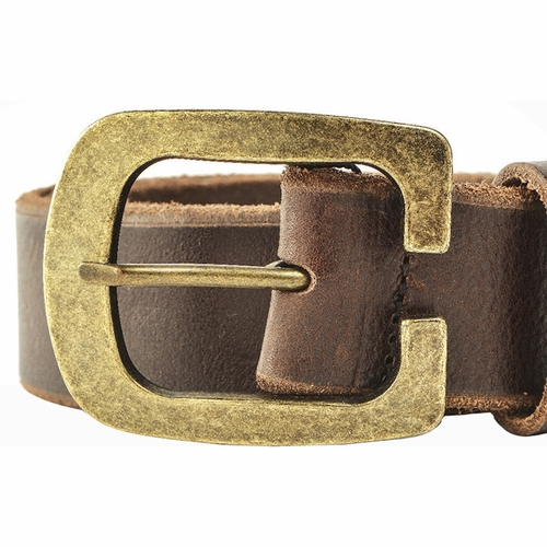 authentic dolce gabbana gold buckle leather belt brown