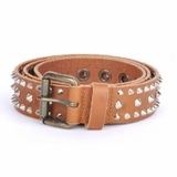 Dolce & Gabbana Men's Spike Leather Belt Brown