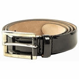 Dolce & Gabbana Skinny Patent Leather Belt Enamel - Black