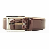 Dolce & Gabbana Skinny Patent Leather Belt Enamel - Brown