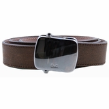Dolce & Gabbana Vintage Plate Leather Belt - Brown