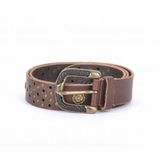 Dolce & Gabbana Vintage Studded Leather Belt Brown