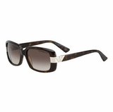 Emporio Armani 9635 086CC Dark Havana Gradient Sunglasses with Case - Brown