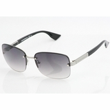 Emporio Armani 9684 BGYJP Ruthenium Gradient Sunglasses with Case - Black