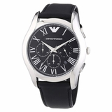 Emporio Armani AR1700 Classic Men Leather Watch - Black