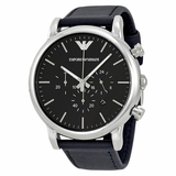 Emporio Armani AR1828 Classic Leather Men Watch - Black