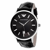 Emporio Armani AR2411 Classic Leather Ladies Watch - Black