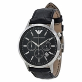 Emporio Armani AR2447 Classic Leather Watch - Black