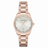 Emporio Armani AR6065 Classic Ladies Watch Rose - Gold