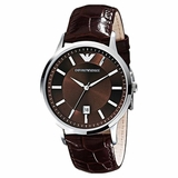 Emporio Armani Classic Leather Men Watch - Brown