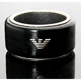Emporio Armani Eagle Logo Ring EG1875040 Black
