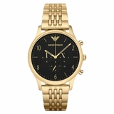 Emporio Armani Men Gold Tone Stainless Steel Watch - Gold