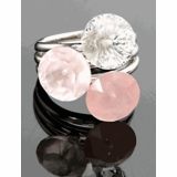 Emporio Armani Rose Quartz Crystal Silver Ring EG1684040