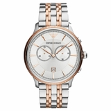 Emporio Armani Silver Classic Two Tone Watch - Gold
