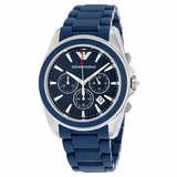Emporio Armani Sportivo Rubber Men Watch - Blue