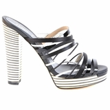 Fendi Black and White Sandals