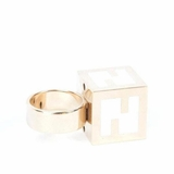 Fendi Cube Ring - White