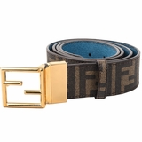 Fendi Fibbia Leather Belts - Brown
