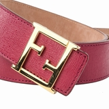 Fendi Leather Belt - Red Size 95/38
