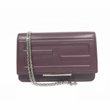 Fendi Leather Tube Wallet On Chain Cross Body Bag - Burgundy