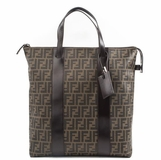 Fendi Mens Tote Business Bag Zucca - Brown