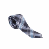 Fendi Plaid Silk Tie - Blue