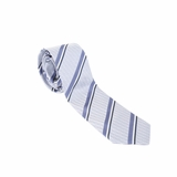 Fendi Silk Striped Tie - Light Blue