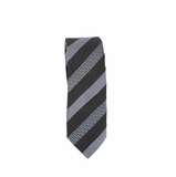 Fendi Stripe Silk Tie - Black