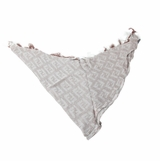 Fendi Trianglular Zucca Silk Blend Scarf - Blue Gray