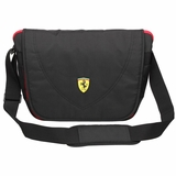 Ferrari Travelers Messenger Bag - Black