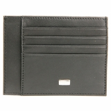 Ferre Leather Credit Card Case - Black