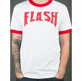 Flash Gordon Ringer Graphic Tee - White