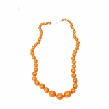 Furla Beads Long Necklace - Orange