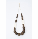 Furla Wooden Beads Long Necklace - Brown