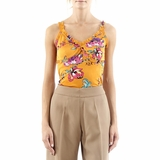 Gai Mattiolo Silk Top - Orange