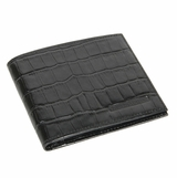 Giorgio Armani Crocodile Print Leather Wallet 469 - Black