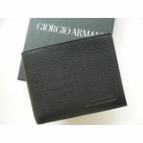 Giorgio Armani Deerskin Leather Wallet 463 - Black