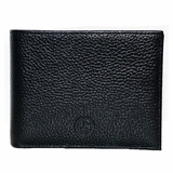 Giorgio Armani Leather Wallet 602 Cervo - Black