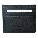 Giorgio Armani Saffiano Leather Cardholder Wallet 240 - Black