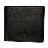 Giorgio Armani Saffiano Leather Wallet 604 - Black