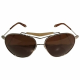 Givenchy Aviator Sunglasses - Silver/Brown