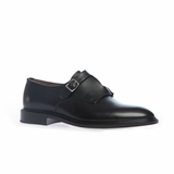 Givenchy Double Buckle Monk Strap Shoes - Black