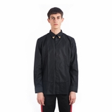 Givenchy Metallic Tipped Collar Shirt - Black