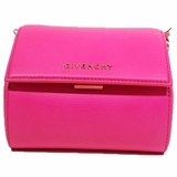 Givenchy Pandora Box Leather Crossbody Bag - Pink