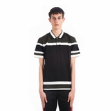 Givenchy Paneled Polo Shirt - Black/Green