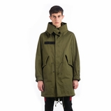 Givenchy Wings Parka Coat - Green