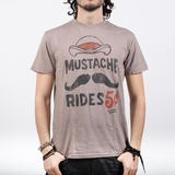 Graphics Mustache Rides Vintage Tee Dust - Gray